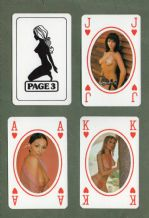Pin-up vintage playing cards The Sun newspaper Page 3